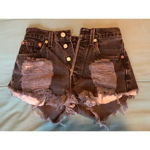 Vintage High Waisted Levis shorts